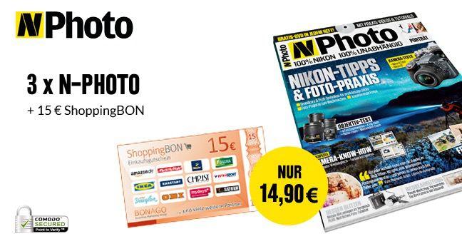 N Photo 3 Ausgaben N Photo mit effektiv 0,10€ Gewinn dank Gutschein   Kündigung per Email möglich!