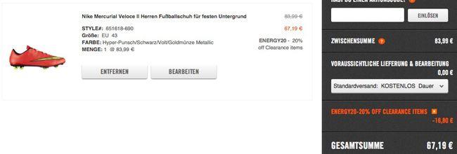 Nike Sale + 20% Extra Rabatt dank Gutschein   kostenlose Lieferung für jede Bestellung   Update