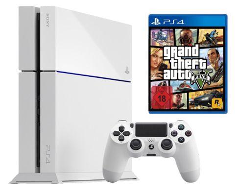 PS4 Weiß GTA 5 Playstation 4 500GB Weiß + GTA V (5) ab 399€