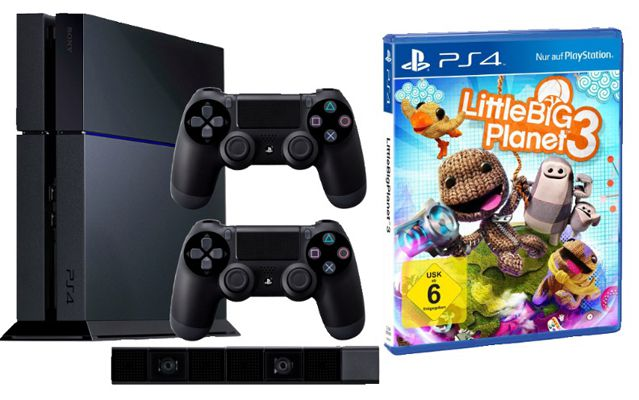 PS4 Playstation 4 + 2. Controller + PS4 Kamera + LittleBigPlanet 3 ab 449€