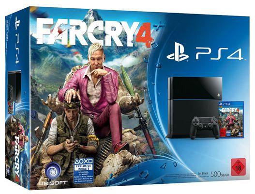 Playstation 4 500GB + Far Cry 4 für 385€