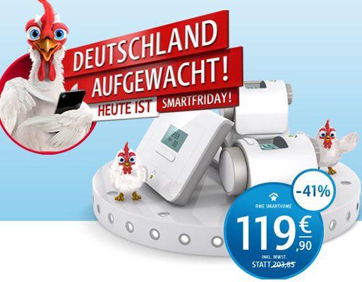 HAMMER! RWE Smartfriday Sale bis 0 Uhr   z.B. SmartHome Zentrale Basic 5 statt 204€ für 120€