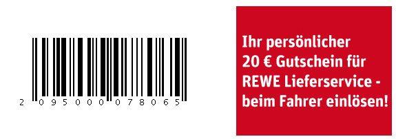 Rewe Gutschein 20€ Gutschein für Rewe Lieferservice mit 40€ MBW   z.B. 4x Kästen Coca Cola (12 x 1l) ab 29,06€   Update!
