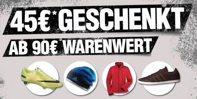 SC24 Gutschein 45€ Gutschein für ALLES bei SC24   z.B. adidas CH Padded Boot für 62€ statt 74€