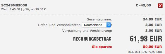 SC24 Warenkorb 45€ Gutschein für ALLES bei SC24   z.B. adidas CH Padded Boot für 62€ statt 74€