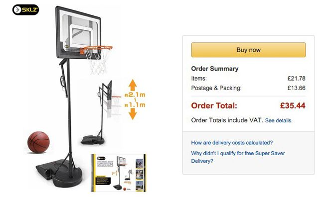 SKLZ Pro Mini Basketballkorb  Preisfehler? SKLZ Pro Mini Basketballkorb mit Ständer für ca. 45€ (statt 205€)