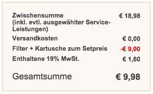 Saturn Kasse BWT Initium Wasserfilter 2,5 Liter + 3 Kartuschen für 9,98€