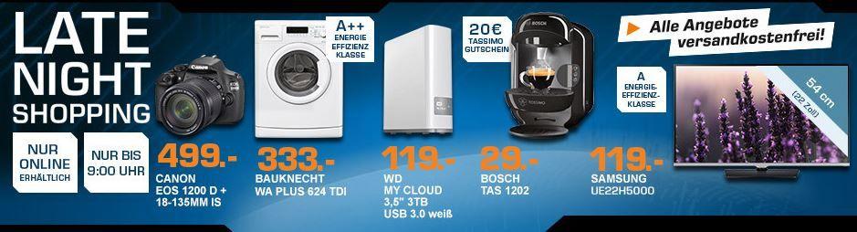 BOSCH Tassimo Vivy (T12) TAS1202 statt 45€ für effektiv 9€ – und mehr Saturn Late Night Angebote