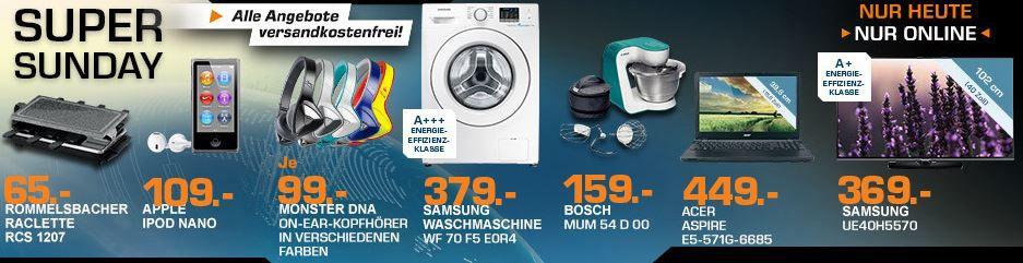 SAMSUNG Waschmaschine statt 474€ für 379€ und mehr Saturn Super Sunday Angebot   Updatee