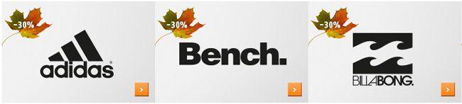 30% Rabatt auf 40 Top Marken   adidas, Bench, Converse, Jack Wolfskin, Nike und mehr