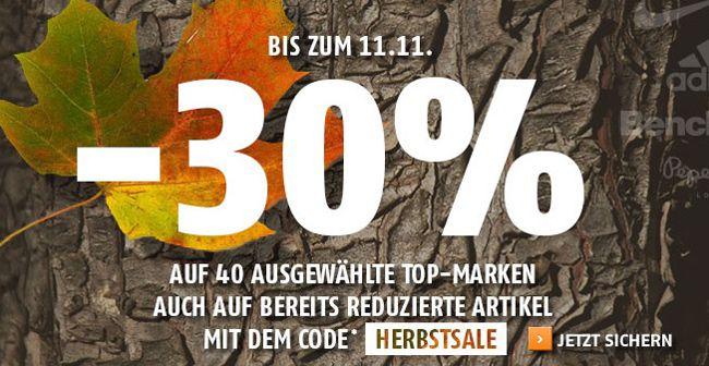Sportscheck 30% Rabatt auf 40 Top Marken   adidas, Bench, Converse, Jack Wolfskin, Nike und mehr