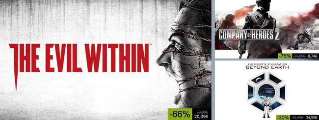 Steam Sale mit täglich neuen Game Angeboten   z.B. The Evil within für 20,39€