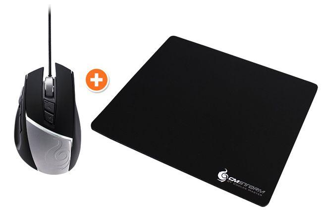 Storm Reaper Gaming Mouse Cooler Master Storm Reaper Gaming Mouse + Storm Speed RX Large Gaming Mousepad für 29,90€