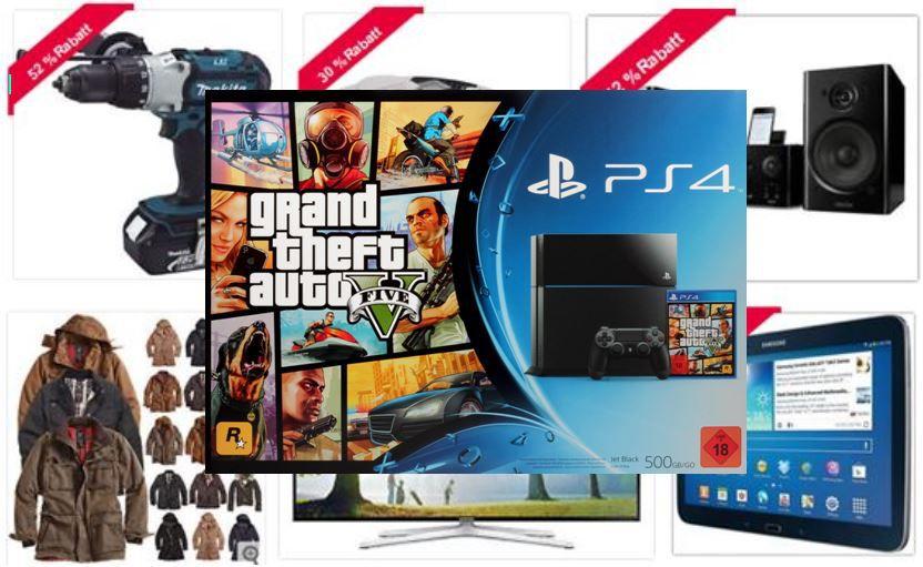Super weekend Sony Playstation 4 + GTA 5 für 379€ bei den ebay Weekend Angeboten