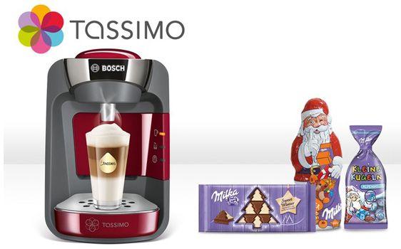 TASSIMO SUNY T32 Bosch TAS3202 Tassimo Suny T32 + 40€ Gutschein + Milka Leckereien für 44,99€