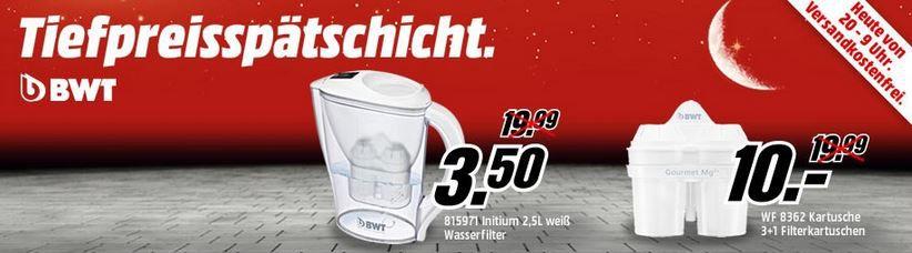 Tiefpreis1 BWT 815971 Initium 2,5 Liter Wasserfilter für 3,50€ bei MediaMarkt Tiefpreisschicht