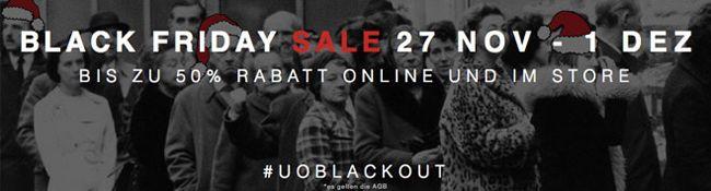 Black Friday bei Urban Outfitters mit bis zu 50% Rabatt