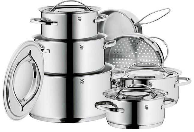 WMF Set 0711126040 Gala Plus   7 teiliges Cromargan Edelstahl Kochgeschirr Set für nur 159,95€ (statt 230€)