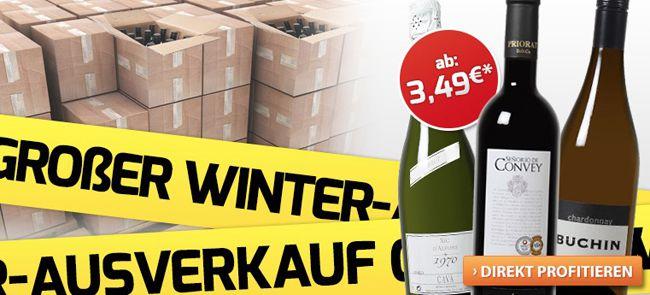 Weinvorteil1 Winterausverkauf bei Weinvorteil: Weine ab 3,49€ + weitere Gutscheine