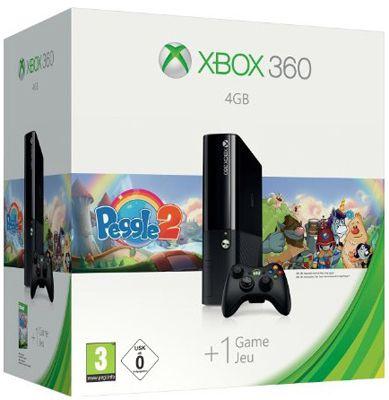 Microsoft Xbox 360 E 4GB + Peggle 2 für 148€