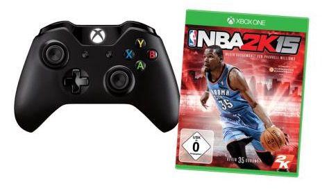 Xbox One Wireless Controller + NBA 2K15 für 59€