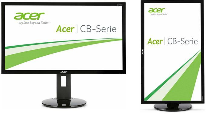Acer CB280HKbmjdppr   28 Zoll Ultra HD Monitor mit Pivot und 1ms für 299€
