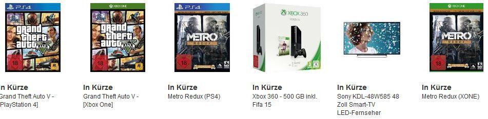 amazon Cybermonday6 GTA V [Xbox One] [PS4] für 43,97€ bei den letzten Amazon Cybermonday Angeboten heute