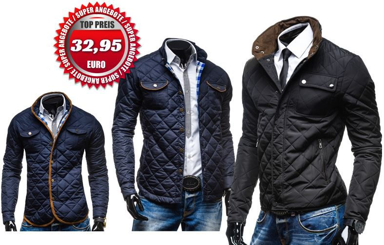 Bolf Extreme & Enos & S West   Stepp Herrenjacken für je 32,95€
