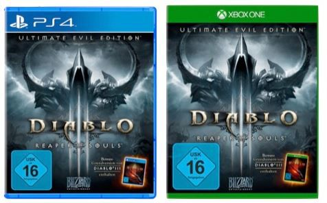 diablo Diablo 3 Ultimate Evil Edition   xbox one oder PS4 je 29,99€   Update