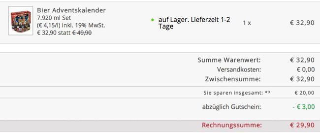 gourmondo Bier Adventskalender   24 verschiedene deutsche Biere für nur 29,90€  Update