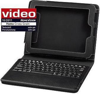 hama Hama Portfolio Cross Grain + Bluetooth Tastatur für Apple iPad 1/2/3/4 nur 19,99€