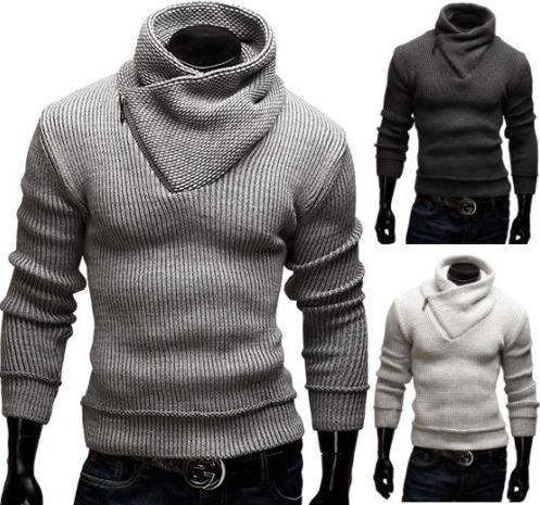 merish Merish Strickpullover mit Schalkragen in Slim Fit für 26,90€   Update!