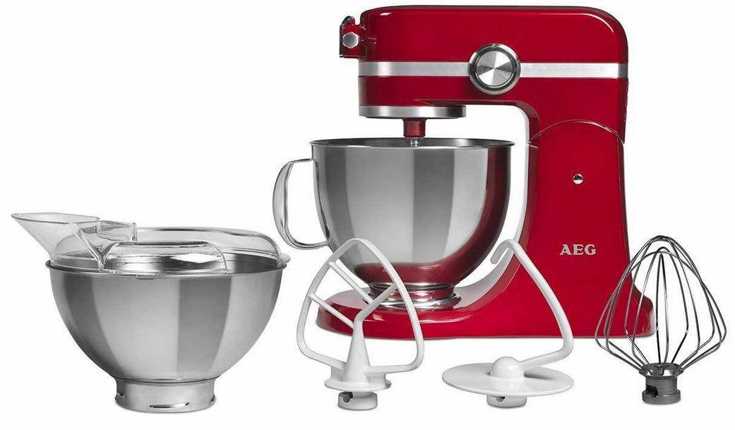 AEG UltraMix KM 4000   voll Metall Küchenmaschine mit reichl. Zubehör für 249,98€