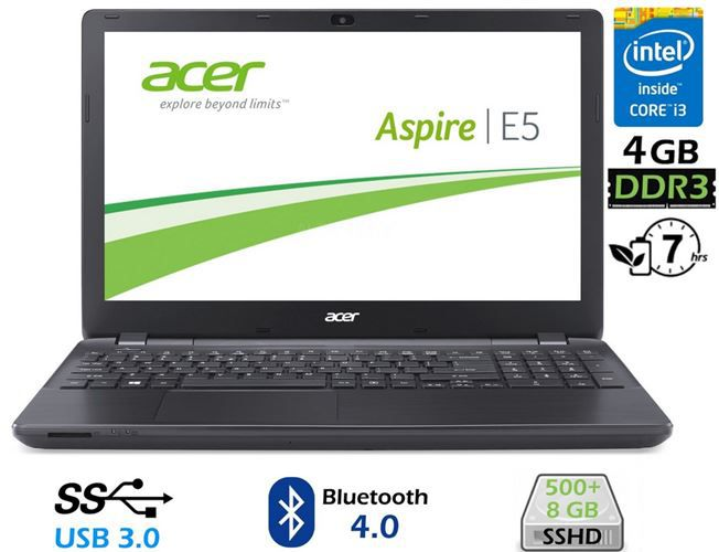Acer Aspire Acer Aspire E5 571 31 KM   15,6 Zoll Notebook Intel Core i3 500+8GB SSHD für nur 299€