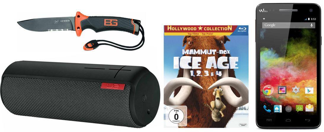 Ice Age 1, 2, 3 & 4 (Mammut Box) (4 Blu rays) bei den ersten 242 Amazon Blitzangeboten heute bis 11Uhr