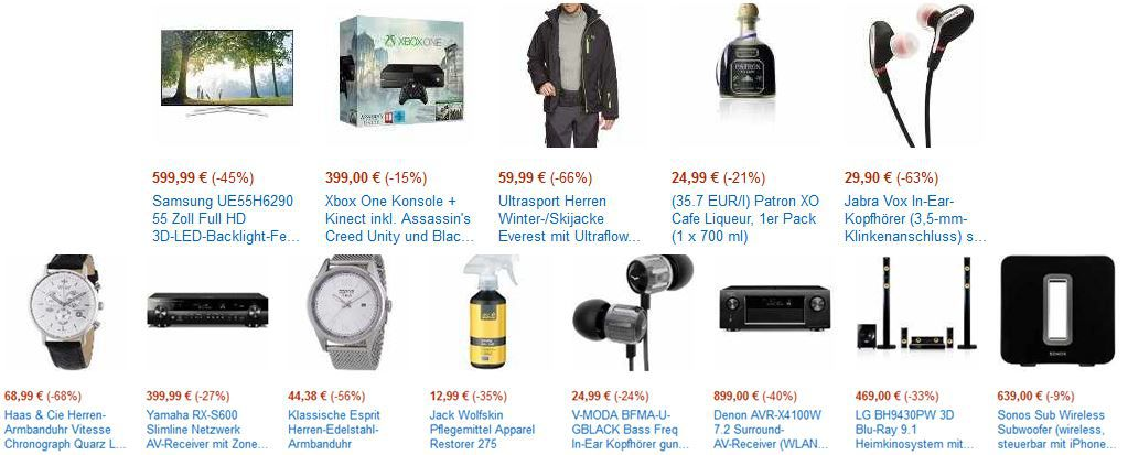 Amazon Blitzangebot46 XBox one + Kinect inkl. AC Unity + Black Flag für 399€   bei den letzten Amazon Blitzangeboten heute