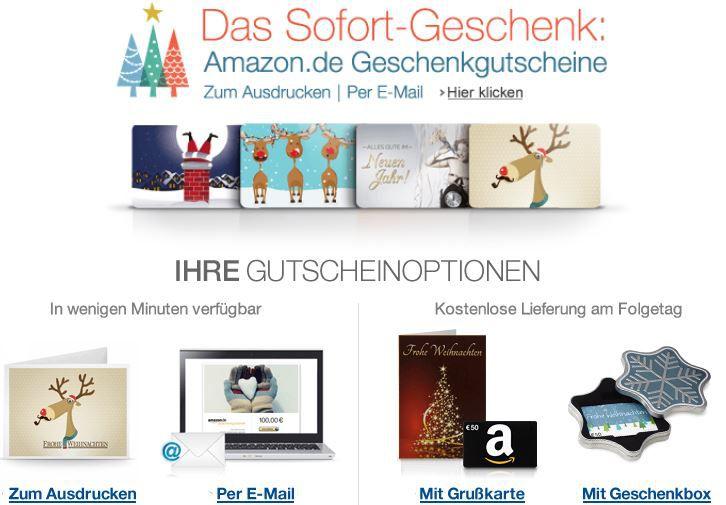 Amazon4 Info: Amazon Last Minute Geschenkgutschein