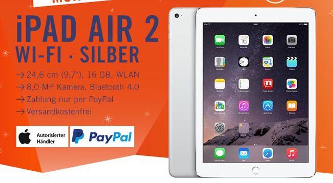 Apple iPad Air 2 Apple iPad Air 2 16GB WiFi Silber für 419€