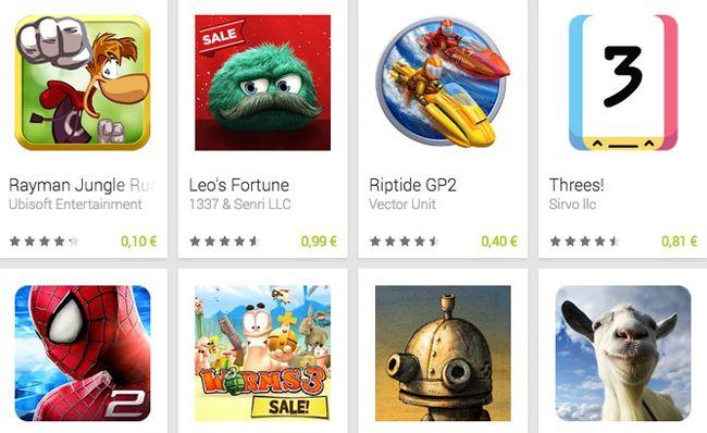 Weihnachts Sale im Google Play Store   z.B. Rayman Jungle Run für 0,10€