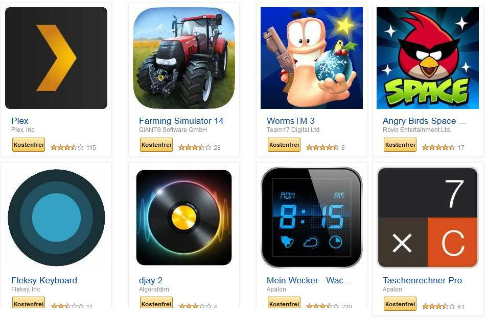 Apps kostenlos KOSTENLOS! Worms, AngryBirds und mehr Android Apps für Tablets, Phones, etc. bei Amazon   Update