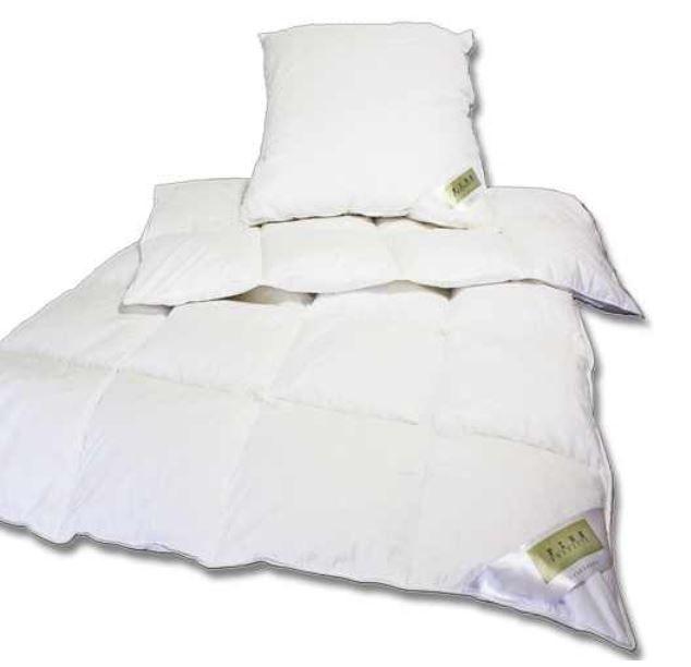Betten wow FINE   Öko Tex Daunen und Federn Bettenset 135x200cm + 80x80cm für 34,95€