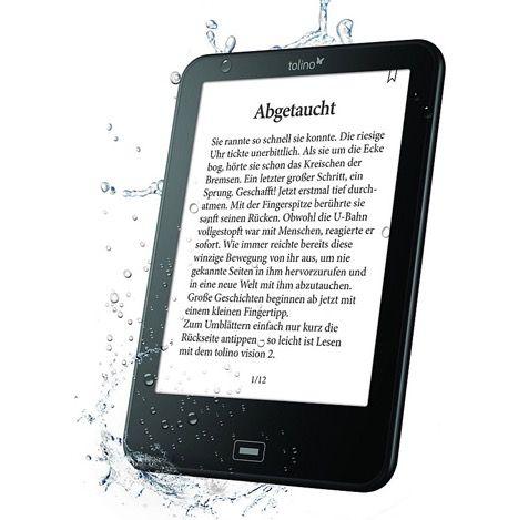 Tolino Vision 2   6 Zoll eBook Reader mit Beleuchtung für 89€ (statt 99€)