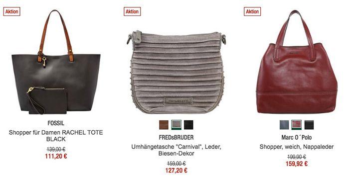 20% Rabatt auf Handtaschen und Schuhe bei Galeria Kaufhof + 10% Gutschein