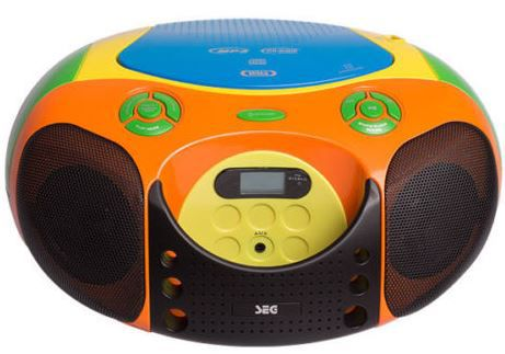 SEG BB 1325 Boombox   CD und MP3 Player mit Radio und USB für 29,90€ inkl. Versand