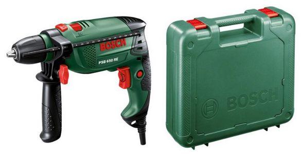 Bosch PSB 650 RE Schlagbohrmaschine + Koffer ab ca. 42€