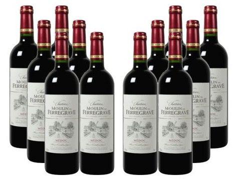 12 Flaschen Château Moulin de Ferregrave Rotwein für 76,38€