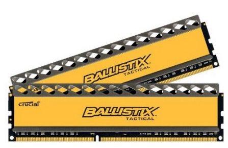 Crucial Ballistix Tactical Arbeitsspeicher 16GB (1600MHz, CL8, 240 polig, 2x 8GB) für 119€