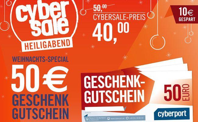 Cyberport1 Schnell! 50€ Cyberport Gutschein für nur 40€