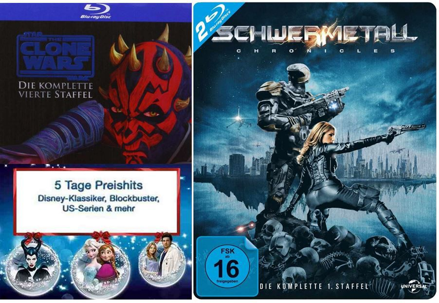 2 TV Serien auf Blu ray für 30€ und mehr Amazon DVD und Blu ray Angebote   Update