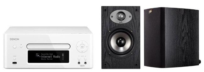 Denon RCD N8WT Denon RCD N8WT Netzwerk Receiver + Polk TSX110B Audio Lautsprecher für 369€
